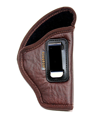 $18.99 • Buy NEW BROWN IWB Soft Leather Holster Houston - You'll Forget It's On! Choose Model