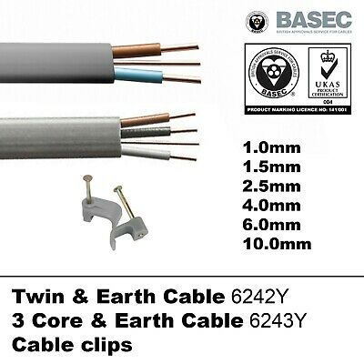 £4.37 • Buy OFFER Twin And Earth T&E Cable 3 Core & Earth Wire Electric Socket Cooker