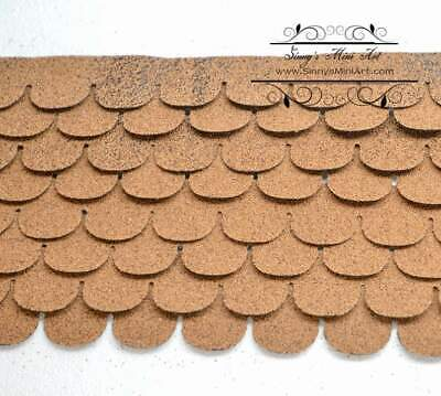 $18.99 • Buy 1:12 Dollhouse Miniature Shingles, Tan Fish-cale Asphalt Roof AM 4009F