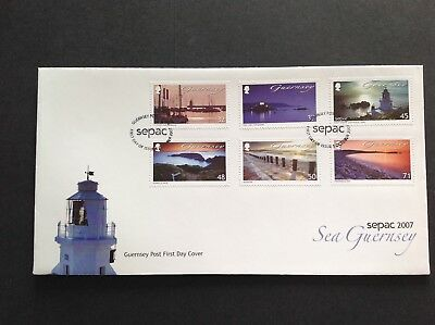 Excellent Guernsey 2007 First Day Cover Sea Guernsey Sepac 2007 • 2.15£