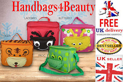 Kids School Sandwich Lunch Box Insulated Cool Bag Shoulder Strap Girls Boys • 6.99£