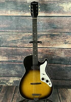 $ CDN1242.60 • Buy Used Silvertone 1959 1326 Stratotone Mars By Harmony USA With Case