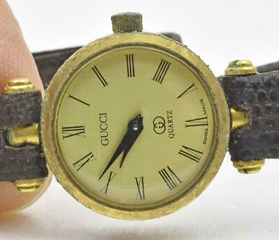 $ CDN21.11 • Buy Vintage Authentic GUCCI Ladies Red & Green Side Wrist Watch Parts Watch