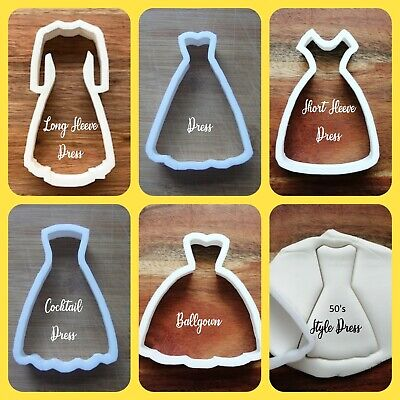 £3.89 • Buy Dress Cookie Cutter Biscuit Dough Pastry Fondant Ballgown, Cocktail, Audrey