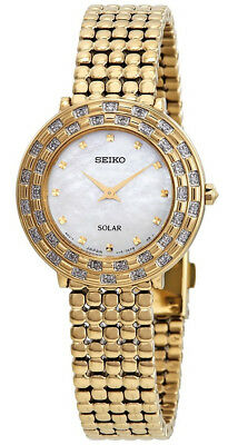 $ CDN309.75 • Buy Seiko Tressia Solar Women's Mother Of Pearl Dial Gold Stainless Steel Watch SUP3