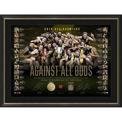 AU795 • Buy Richmond Tigers 2019 Afl Premiers Dual Signed Lithograph Against All Odds Martin