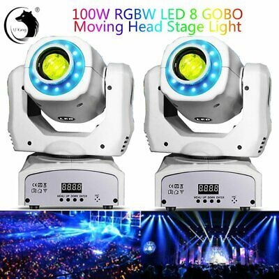 8Pattern Gobo 2x 80W LED RGB Moving Head Light DJ Beam Stage Lighting Disco Show • 125.29£