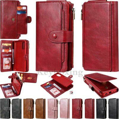 $ CDN18.51 • Buy For Samsung S20 S10 S9 S8+ Note 10 Magnetic Detachable Leather Wallet Case Cover