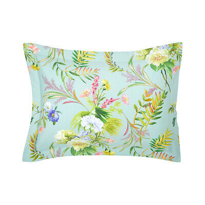 Yves Delorme | Bouquets Pillowcase 300tc Egyptian Cotton 60% Off Rrp • 35.55£