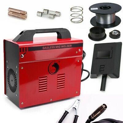 Portable Gasless MIG Welder 130 Amp Auto Flux Wire Feed Welding Machine 240V Kit • 123.99£