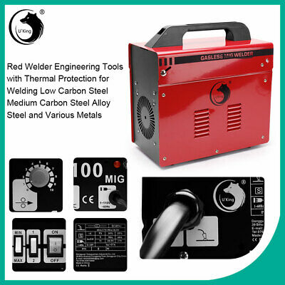 MIG Gasless Welder Welding Portable Machine 3-IN-1 MMA TIG GAS With  Kit Mask  • 78.79£