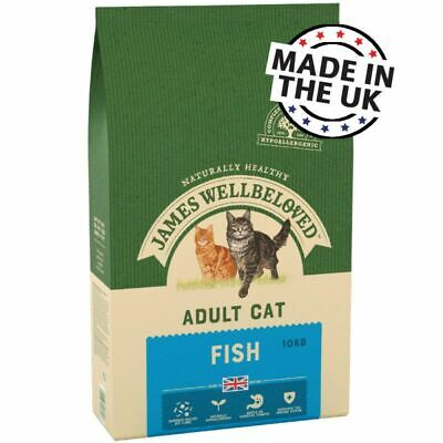James Wellbeloved  Complete Dry Adult Cat Food - 10kg Fish And Rice • 52.99£