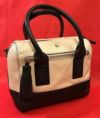 $49 • Buy Kate Spade Purse Two Tone Satchel Handbag Large Pebbled  Leather Purse