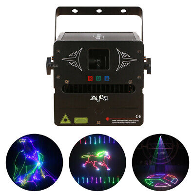 AU392.37 • Buy 1W SD Program RGB Animation Projector DMX Scan DJ Party Club Laser Stage Lights