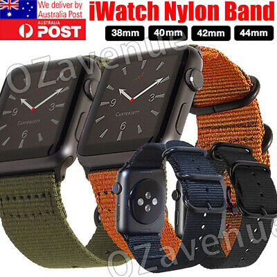 AU13.29 • Buy Apple Watch Series 5/4/3/2/1 Band Army Nylon Watch Strap Sports IWatch Band