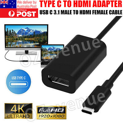 AU7.95 • Buy 4K Type C To HDMI Adapter USB C 3.1 Male To HDMI Female Cable 30Hz For Macbook A