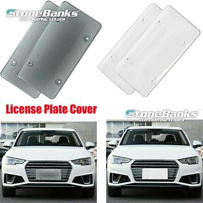 $10.99 • Buy Pair Smoked Clear License Plate Tag Cover Frame Shield Tinted Bubble Flat Car US