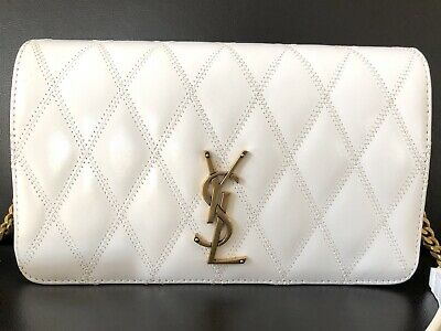 AU560 • Buy Authentic YSL Saint Laurent Angie Chain Bag In Diamond-quilted Lambskin