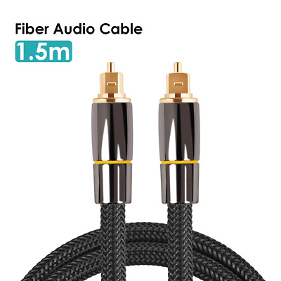 Digital Toslink Cable 1.5m Audio Cable SPDIF Output Line 5.1 Channel Amplifier • 4.99£