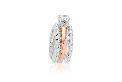 NEW Clogau Silver & Rose Gold Engagement Ring Milestones Bead Charm £20 Off! • 59£