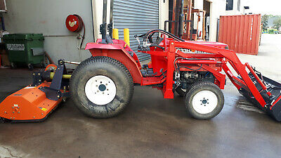 AU19870 • Buy Shibaura Tractor 33hp 4wd, HST Trans, 4in1 Loader, P/steer, Turf Tyres, Mulcher