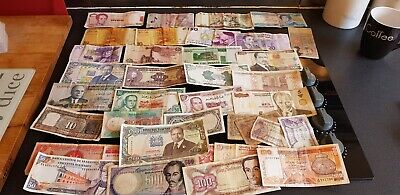 Foreign Banknotes Job Lot Or 34 • 5.50£