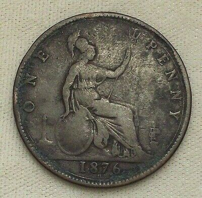 $14.50 • Buy 1876 One Penny ~ Great Britain ~ Queen Victoria English Copper Coin Uk 1 England