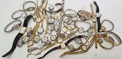 $ CDN33.08 • Buy 41 Vintage Ladies Mechanical Watch Lot ALL WORKING Gold Filled LONGINES Bulova