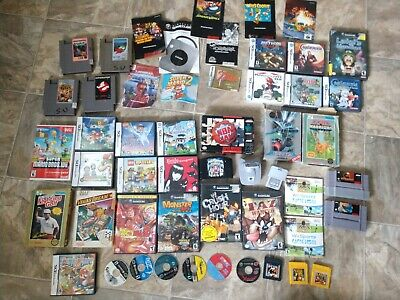 $ CDN430.13 • Buy Random Nintendo Video Game Lot NES SNES N64 Wii DS Gamecube 43 Plus Pieces