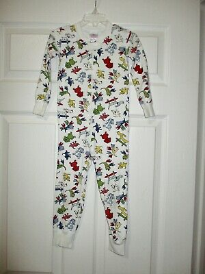 $14.99 • Buy Hanna Andersson 90 White Dog Zipper Pajamas One Piece 3T Puppies Puppy