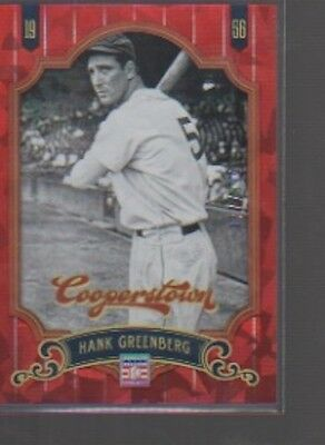 $2 • Buy HANK GREENBERG 2012 PANINI COOPERSTOWN RED CRYSTAL RUBY 177/399  Tigers
