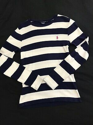 AU30 • Buy Ralph Lauren Sport Womens Sweater Shirt Size M Navy And White Stripe