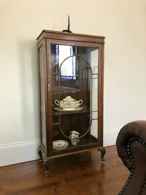AU220 • Buy Antique Glass Walnut Display Cabinet