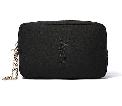 AU22.99 • Buy YSL Black Makeup Cosmetics Bag With Gold Chain Strap, Brand NEW! 100% Genuine!!
