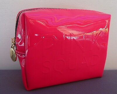 AU15.99 • Buy YSL Beauty  Pink Squad  Faux Patent Leather Makeup Cosmetics Bag, Brand NEW!