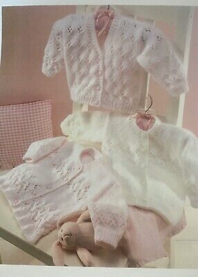 £2.79 • Buy Baby & Girls Cardigan Knitting Pattern Dk To Fit 0-6 Years,Lovely Knitted Up E10