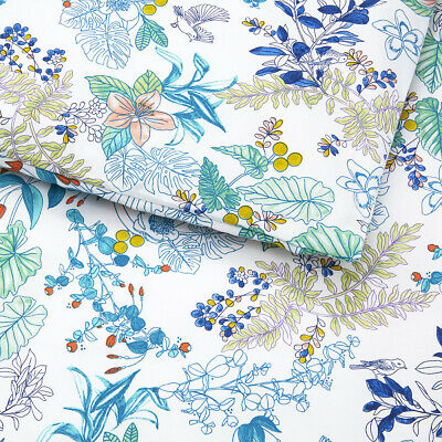 Yves Delorme | Flora Duvet Cover Printed 100% Cotton Percale 200tc  40% Off Rrp • 161.46£