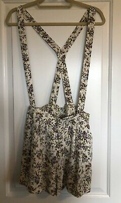 $14 • Buy Kimchi Blue - Suspender Shorts Floral Pattern- Women's Size M - Urban Outfitters