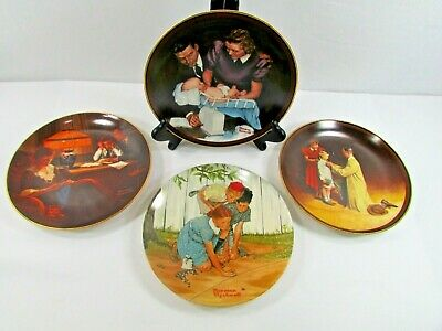 $ CDN31.79 • Buy Lot Of 4 NORMAN ROCKWELL PLATES Vintage