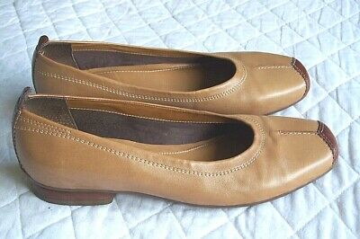 K By Clarks Light Tan Leather Ballet Flats, Pumps Size 5.5 • 17.50£