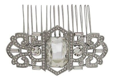Vintage Inspired Crystal Hair Comb Art Deco Inspired Bridal Hair Comb Wedding • 13.99£