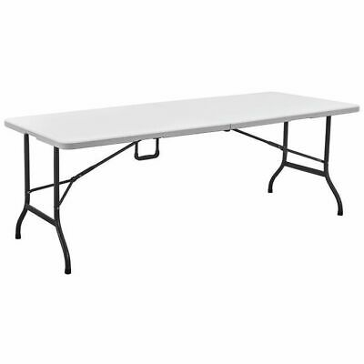Blow Moulded Garden Camping Portable Rectangular Folding Table - 6ft • 44.99£