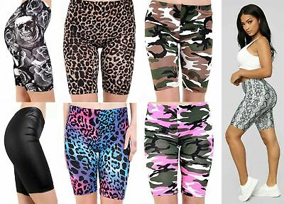£6.98 • Buy Womens High Waist Cycling Shorts Camouflage Snake Leopard Print Gym Hot Pants