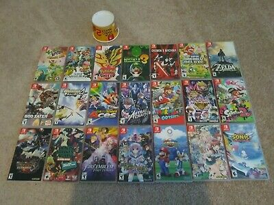$80 • Buy Big Lot 21 Nintendo Switch OEM Authentic Replacement Empty Cases NO GAMES