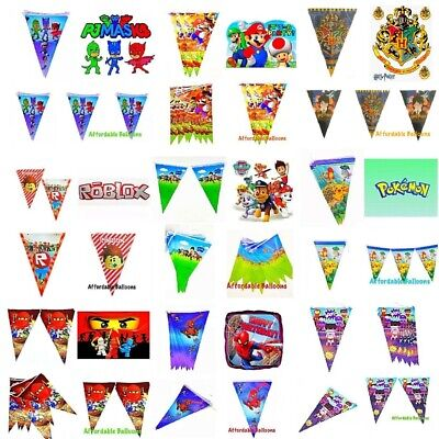Children's Birthday Party Flag Banners. Themed Birthday Party Decorations  • 4.19£