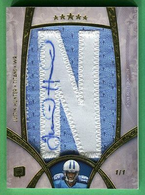 $69.99 • Buy 2013 Topps Five Star JUSTIN HUNTER Auto AUTOGRAPH JERSEY ROOKIE Titans *TRUE 1/1