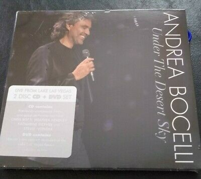 $18.95 • Buy Andrea Bocelli Under The Desert Sky CD And DVD FREE Shipping