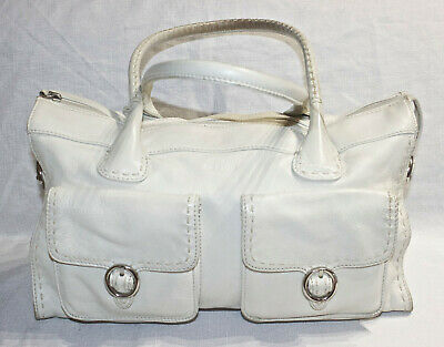 AU23.50 • Buy RRP$545 OROTON Cream Leather Stitched Shoulder Bag/Handbag/Tri-Compartment Tote