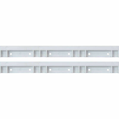 $20.75 • Buy Plastic White Rails For Hang And Stack Bins, Price For Pack Of 2