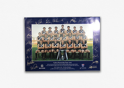 AU24.95 • Buy Carlton Blues 1995 Premiers Signed Poster